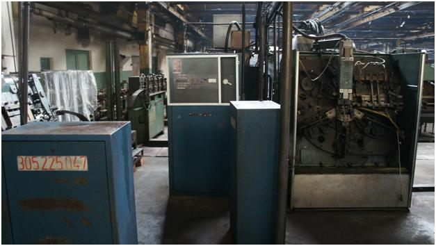 Installation for welded needle cages from profiled tape - BIHLER GRM 50